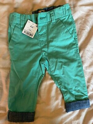 £1.20 • Buy Next Green Turn Up Baby Chinos Trousers 6-9 Months Girls Boys