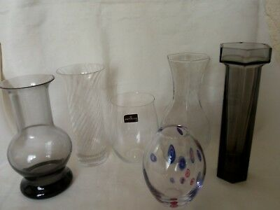 £35.99 • Buy An Assorted Collection Of (6) Frank Thrower , Dartington / Wedgwood Glass Items.