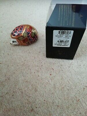 £99 • Buy Royal Crown Derby Paperweight Orchard Hedgehog Box Gold Stopper Box 1999 Signed