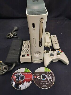 AU25 • Buy Xbox 360 Arcade Console, 60gb White, Controller, 2 Games, Cooler, Remote, Dock.