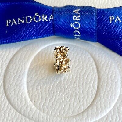 AU299 • Buy Authentic Pandora Solid 14k Gold Ring Of Flowers Spacer Charm #750269