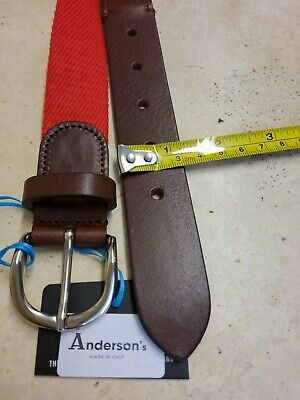 £29 • Buy Anderson  Canvas Red  Belt Size 90 Leather Trimmed New