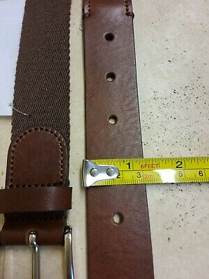 £29 • Buy Anderson  Canvas Brown   Belt Size 100 Leather Trimmed New