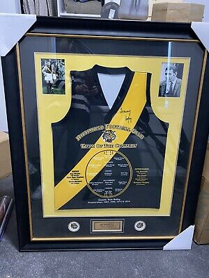 AU1000 • Buy Richmond  Team Of The Century  Jumper Signed By Tommy Hafey Framed And Glazed