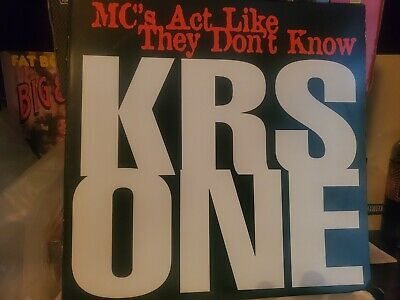 £14.52 • Buy Krs One Mcs Act Like They Don't Know Vinyl Hip Hop Rap
