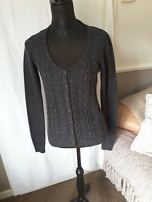 £6 • Buy Fat Face Ladies Cable Knit Cardigan Size 14