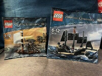 £10 • Buy Pirates Of The Caribbean Lego Polybag Set Jack Sparrow 30131 & Black Pearl 30130