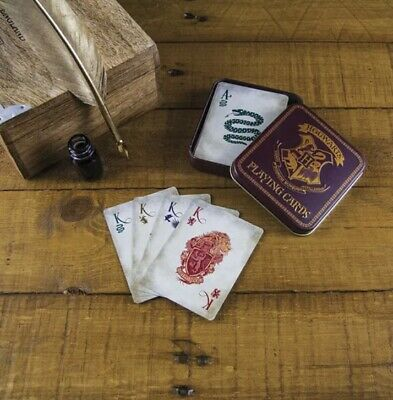 £5 • Buy Harry Potter Hogwarts Playing Cards In A Burgundy Metal Tin. New & Sealed!