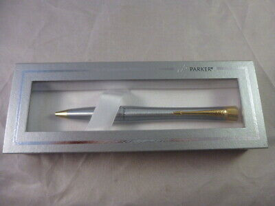 £9.99 • Buy Boxed Parker Urban Ballpoint Pen Silver With Gold Trim