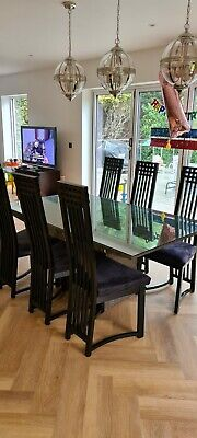 £400 • Buy Grey Marble Dining Table And 6 Italian Casa Bella Chairs