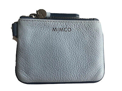 AU29 • Buy Mimco Small Blue Leather Pouch With Dust Bag