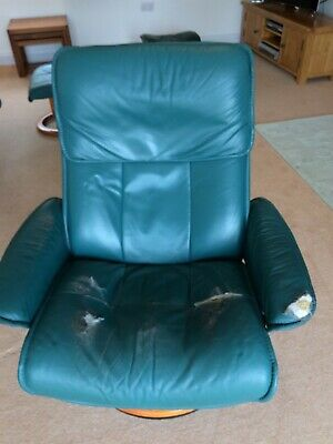 £20 • Buy Stressless Ekornes Leather Swivel And Recliner Chair With Raiser/Elevator Ring