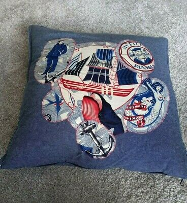£5 • Buy Customised Ikea Cushion With Appliqued Alexander Henry Fabric Detail, 50cmx50cm