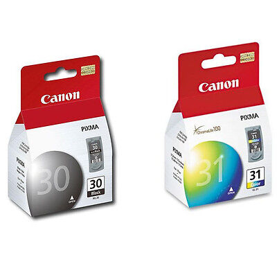 £41.76 • Buy Genuine Canon PG-30 CL-31 Ink IP1800 IP2600 MP140 MP190 MP210 MP470 PG30 CL31 30