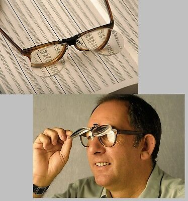 New Flip Up Clip On X3.0 Magnifying Reading Glasses Eye Magnifiers Lenses Specs • 7.97£