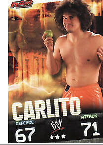 WWE Slam Attax Evolution - Carlito Raw Card • 0.99£