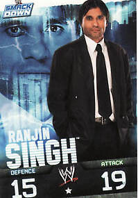 WWE Slam Attax Evolution - Ranjin Singh Smackdown Card • 0.99£