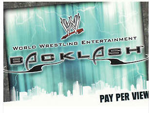 WWE Slam Attax Evolution - Backlash PPV Card • 0.99£