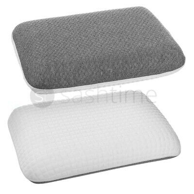 Luxury 2in1 Memory Foam Core Orthopaedic Support Firm Bed Pillow Anti-Bacterial  • 14.95£