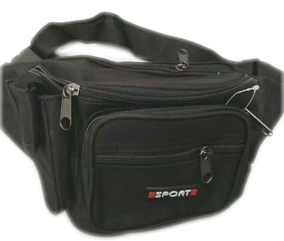 AU13.95 • Buy Waist Pouch Travel Bum Bag Black With Small Side Pocket
