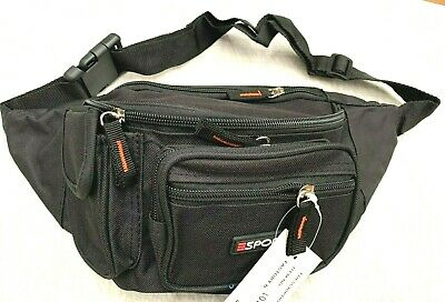 AU12.99 • Buy Waist Pouch Travel Bum Bag Black With Small Side Pocket