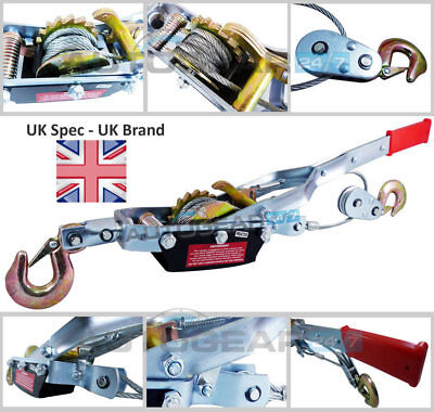 £39.79 • Buy 4 Ton Tonne Heavy Duty Lifting Pulling Stretching Winch Turfer Hand Cable Puller