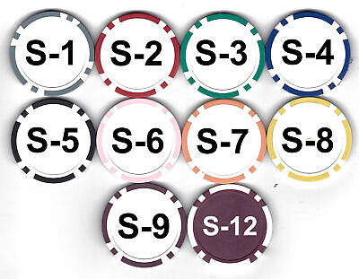 £21.56 • Buy 100 ROULETTE Or Custom CLAY COMPOSITE POKER CHIPS 11.5 Gram Home Casino Use