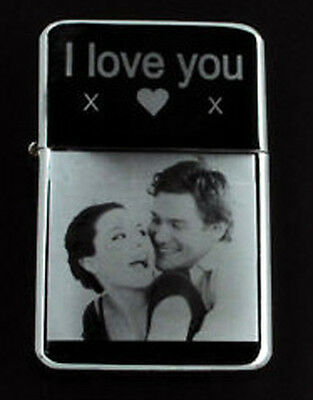 £8.99 • Buy Personalised Any Photo / Text Engraved Lighter Gift Uk All Come With A Box