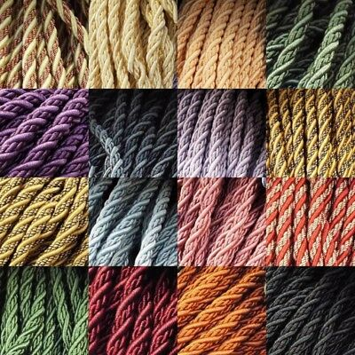 8mm Piping FLANGED Cord Upholstery Cushions Costumes 15 Colours Buy 1 2 Or 4m • 4£