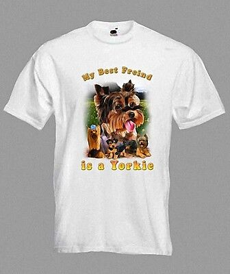 Dog Yorkie Yorkshire Terrier  T-Shirt In Any Size • 9.99£