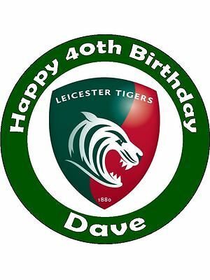 £6.45 • Buy Personalised Rugby Cake Topper CHOOSE YOUR OWN CLUB !!