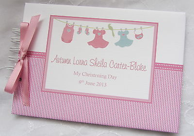 £13.99 • Buy Personalised Christening / Naming Day Guest Book /album