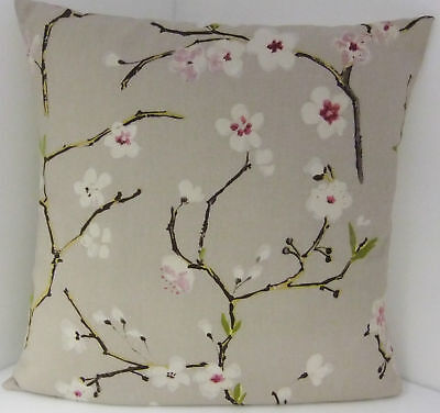 £6.99 • Buy Cushion Covers  Single Pretty Apple Blossom Beige White Scatter Covers