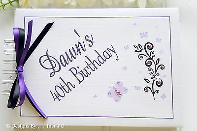 Personalised Any Age 18th  21st 30th Ect Birthday Guest Book - Party Photo Album • 13.99£
