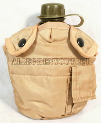 $ CDN11.18 • Buy 1QT DESERT TAN Military Style CANTEEN COVER  W/ ALICE CLIPS KEEPER 1QT EXCELLENT