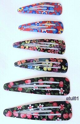 £2.59 • Buy 6 Assorted Size Hair Clips Slides Grips Girl Girls FASHION SNAP Accessories NEW