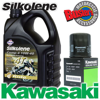 ZX9R F1 F2 02-03 Genuine 16097-0004 Kawasaki Oil Filter & Silkolene Comp4 • 39.99£