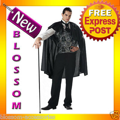C305 Mens Victorian Vampire Count Dracula Scary Fancy  Halloween Costume Outfit • 35.20£