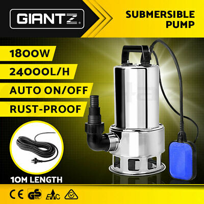 AU94.90 • Buy Giantz 1800W Submersible Dirty Water Pump Bore Sewage Septic Sewerage Clean