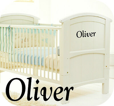 Baby Boys Personalised Cot Sticker - Nursery Room Boy - Kids - Bedroom Or Cot  • 3.99£