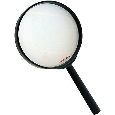 LARGE MAGNIFYING GLASS MAGNIFYING GLASSES 4  3X GLASS LENS 100mm OPTICAL NEW • 2.99£