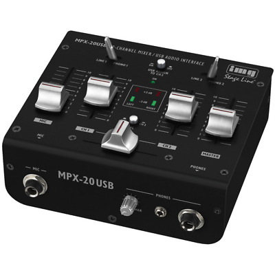 IMG Stage Line 4-Channel & Mic Compact DJ Mini Mixer With Crossfader USB & PFL • 59.99£
