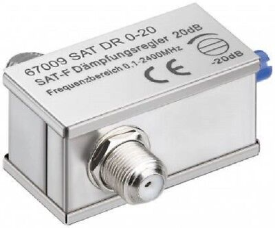 £5.50 • Buy Cable TV Variable 0-20dB Signal Attenuator With F Plug Type Connector Fittings