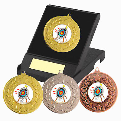 £4.35 • Buy Archery Medal In Presentation Box - Free Engraving - Archery Trophies - New
