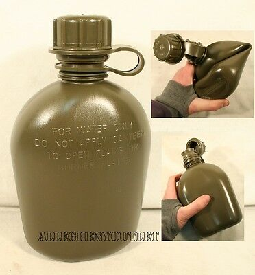 $ CDN9.41 • Buy NEW US Military Army 1 Quart PLASTIC COLLAPSIBLE OD CANTEEN 1QT BPA Free