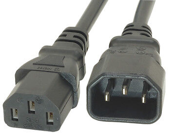 2m Power Extension Cable IEC Kettle Male To Female UPS Lead C13 - C14 PC Metre • 3.39£