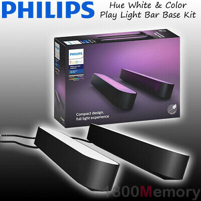 AU239 • Buy Philips Hue White And Color Ambiance Smart Play Light Bar Dual Pack Black IP20