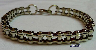 Mens Stainless Steel Bicycle Bike Chain Silverton Bracelet Punk Gothic Biker NEW • 5.99£