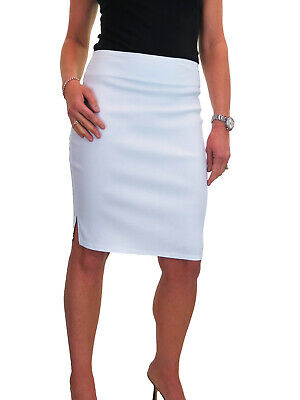 RED STRETCHY MIDI SMART PENCIL FRILL WIGGLE CAUSAL SKIRT