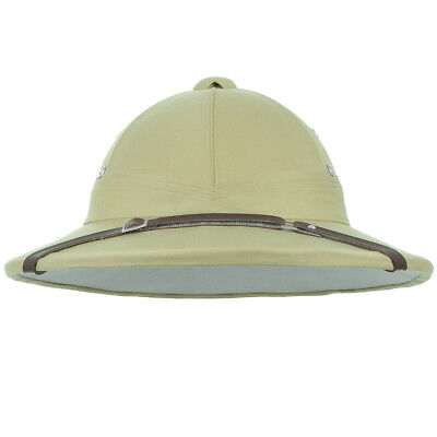 Classic French Army Tropical Pith Helmet Military Style Costume Replica Khaki • 23.95£
